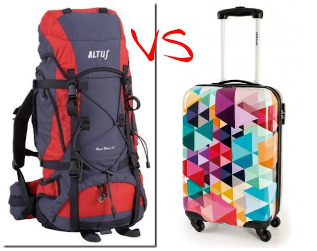 mochila vs maleta
