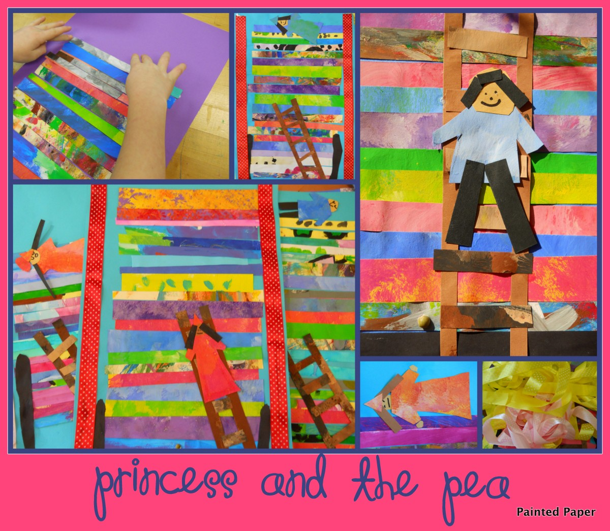 Painted Paper Princess And The Pea