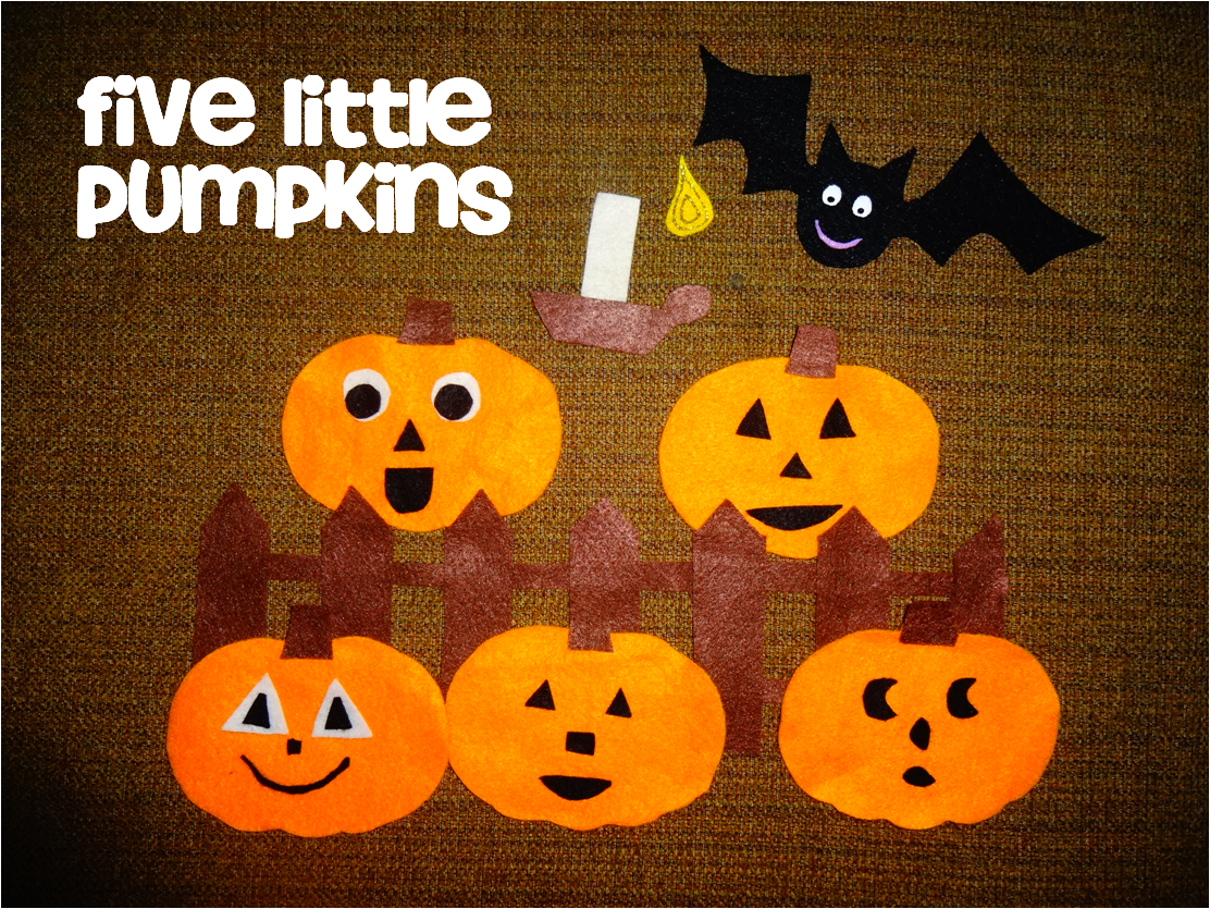 The Preschool Procrastinator Five Little Pumpkins