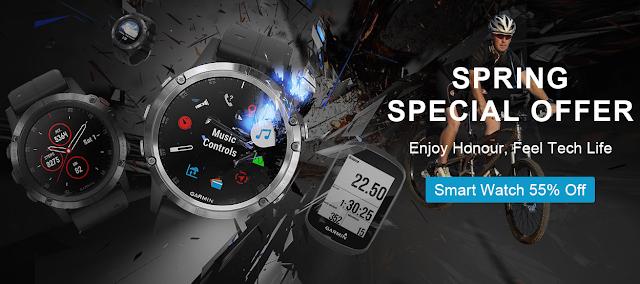 Promoção nos Relógios e GPS Garmin na TOMTOP