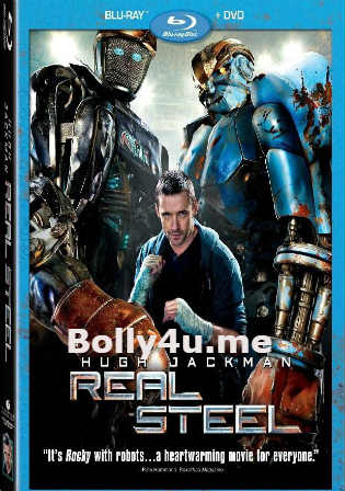 Real Steel 2011 BRRip 400MB Hindi Dual Audio 480p ESub Watch Online Full Movie Download bolly4u