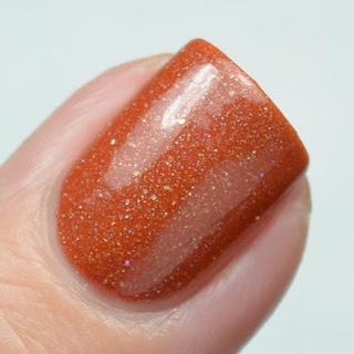 orange holographic nail polish