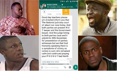 See The Viral Whatsapp Broadcast Sent By Spokeswoman For Sacked Kaduna Teachers That Has Got People Talking