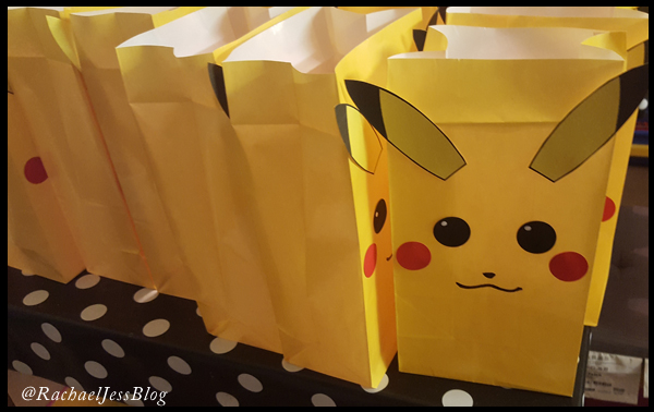 Filling Pikachu Party bags