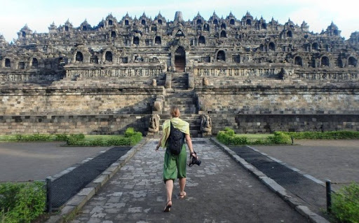 Borobudur The World's Largest Buddhist Temple in Yogyakarta, Indonesia