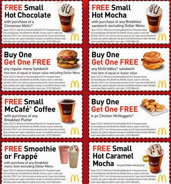 Mcdonalds Codes For Free Food