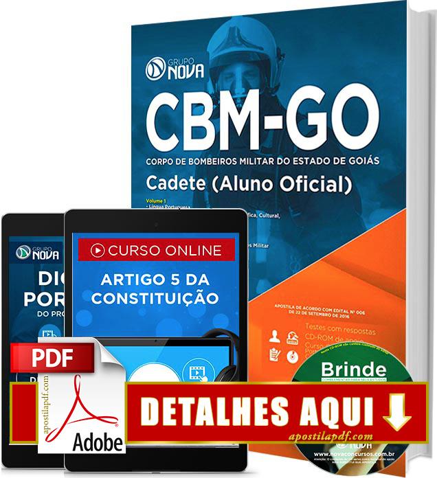 Apostila Bombeiros GO 2016 Cadete Impressa