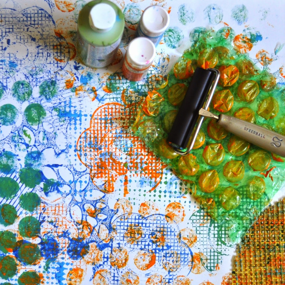 Art With Kids Printing Texture