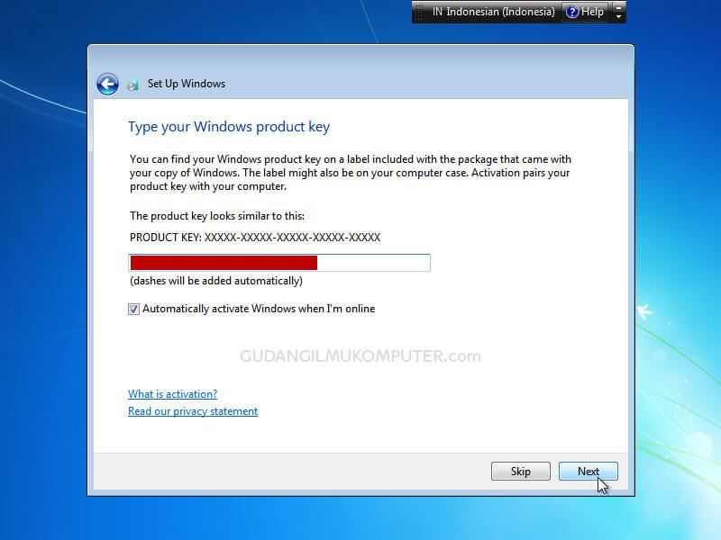 Cara Instal Windows 7 Lengkap dengan Gambar
