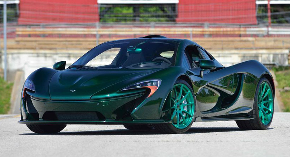 World S Only Green Carbon Fiber Mclaren P1 To Cause