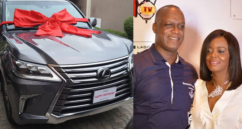 Beat 99.9 FM boss gets 40 million naira Lexus from wife as birthday gift