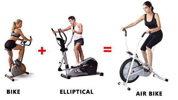 Air Bike จักรยานออกกำลังกายแบบลม 2 ระบบ