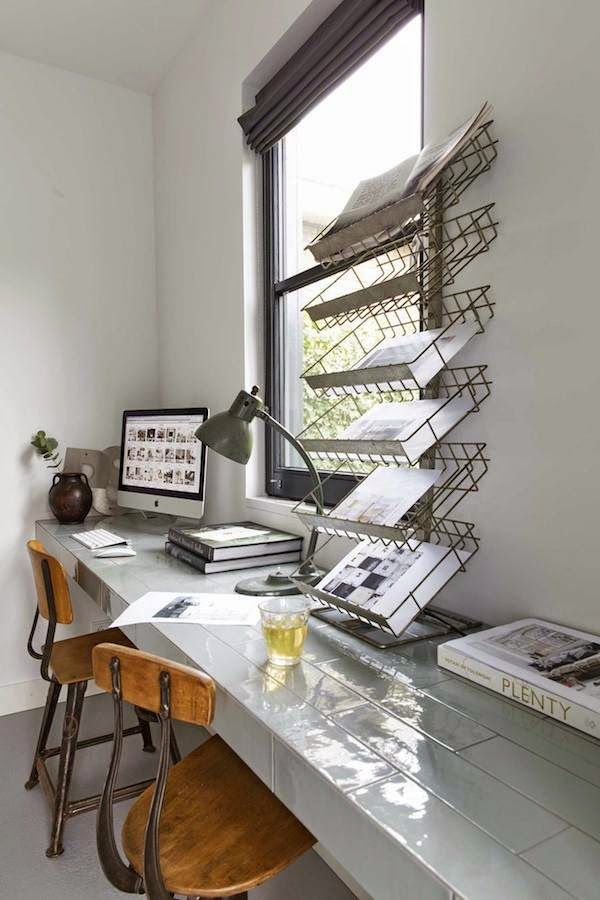 Industrial Study Room: 20 Incredibly Beautiful And Organized Office Spaces