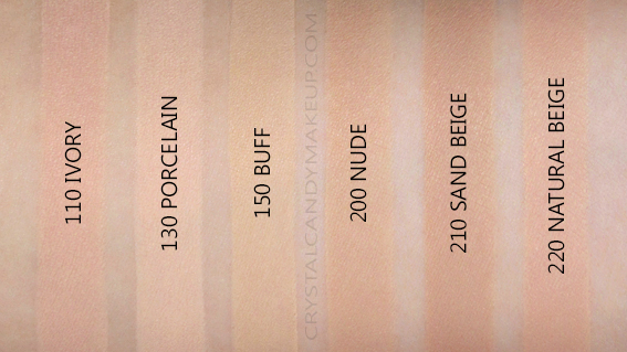 Revlon Photoready Insta-Filter Foundation Swatches 110 130 150 200 210 220 NW25 NW15 NC20 NC30 NW35