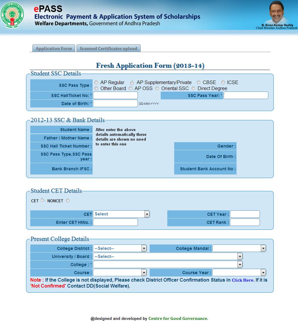 Postmatric Scholarships Fresh online application