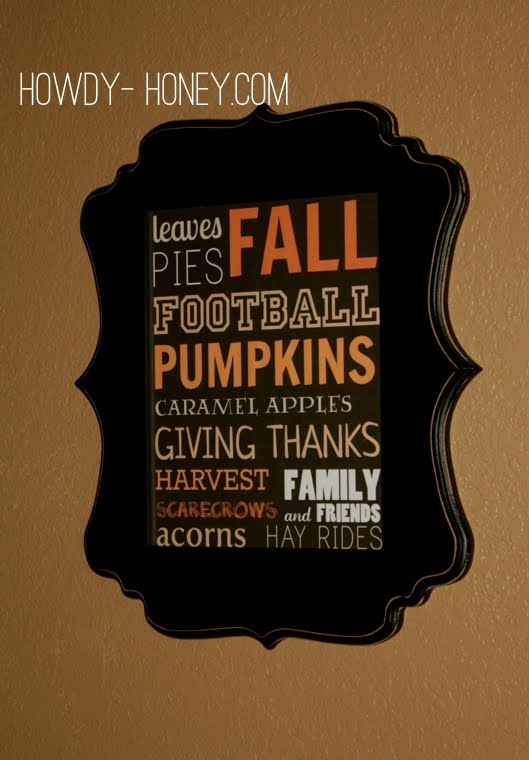 Fall Favorite Things Printable from Howdy Honey