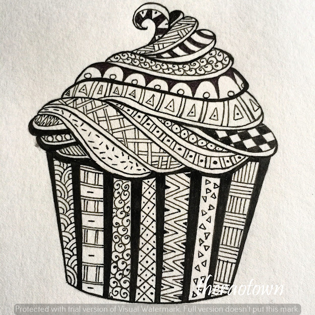 Zentangle  Recap  Theraotown  Zen Doodledoodle Artcupcake