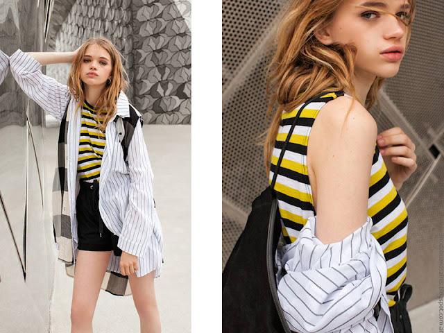 Camisas, remeras, shorts, faldas primavera verano 2017. Moda primavera verano 2017.