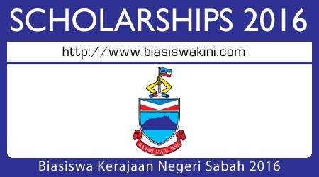Biasiswa Kerajaan Negeri Sabah 2016