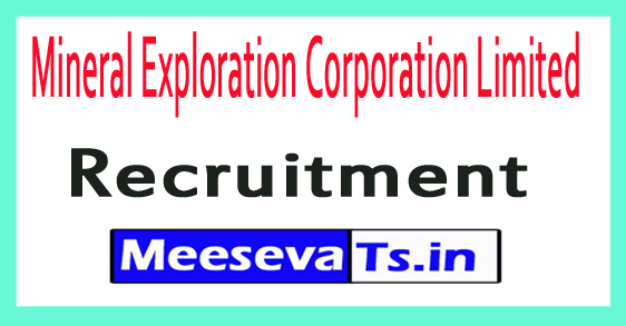 Mineral Exploration Corporation Limited MECL Recruitment