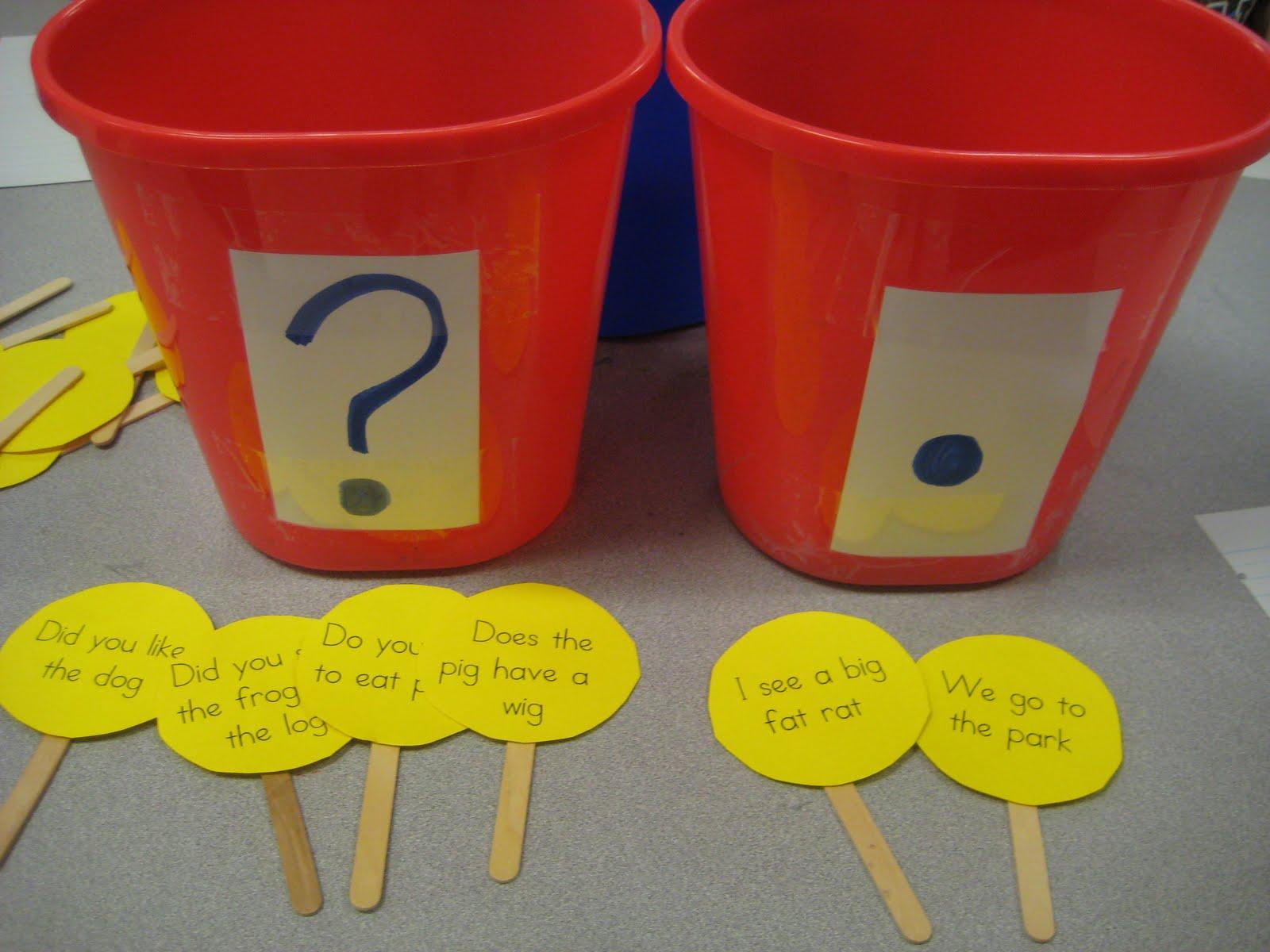 Kinder Garden Period Or Question Mark