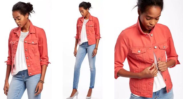 Old Navy Pop Color Denim Jacket $15 (reg $35)