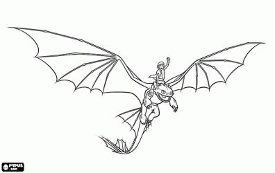 Como Entrenar a tu Dragon para dibujar pintar colorear