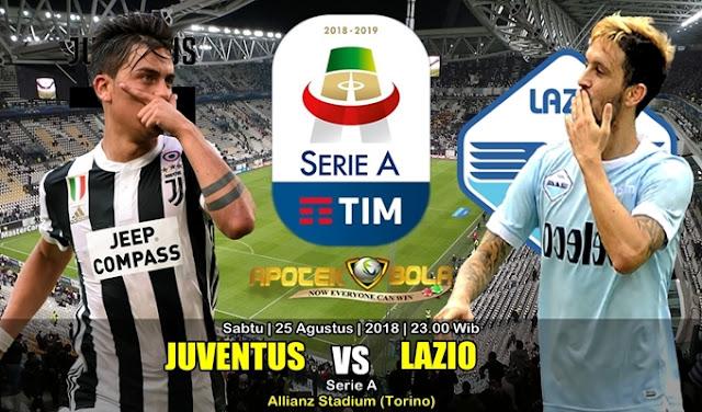 Prediksi Juventus Vs Lazio 25 Agustus 2018