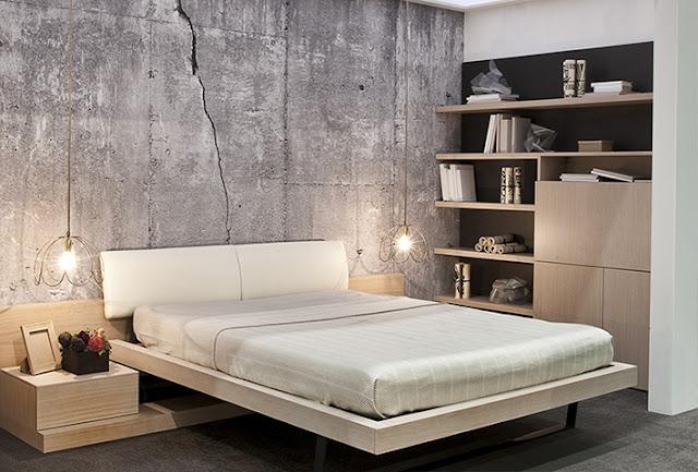 Betoni tapetti betoni taustakuva harmaa rahasto taustakuva Photowall betoni tapetti kuvio betoni crack makuuhuone