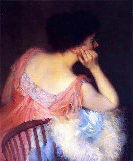 Marion Boyd Allen - Portrait of a Lady in a Pink Dress