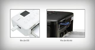 hỗ trợ thẻ nhớ và ổ flash