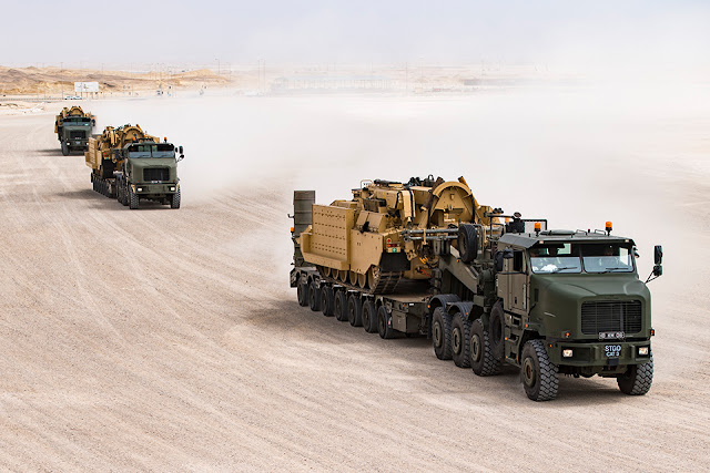 UK armoured vehicles arrive in Duqm ahead of Exercise Saif Sareea 3