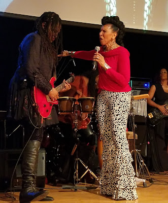 Kat Dyson, musical director of Black Women Rock! with Nona Hendryx.
