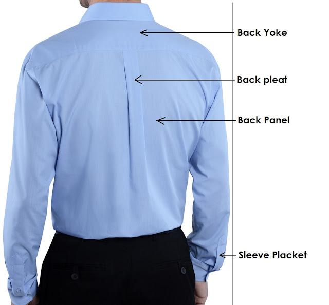 Men's shirt parts
