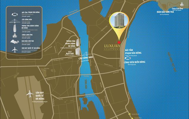 Vị trí đắc địa tại Luxury Apartment Đà Nẵng