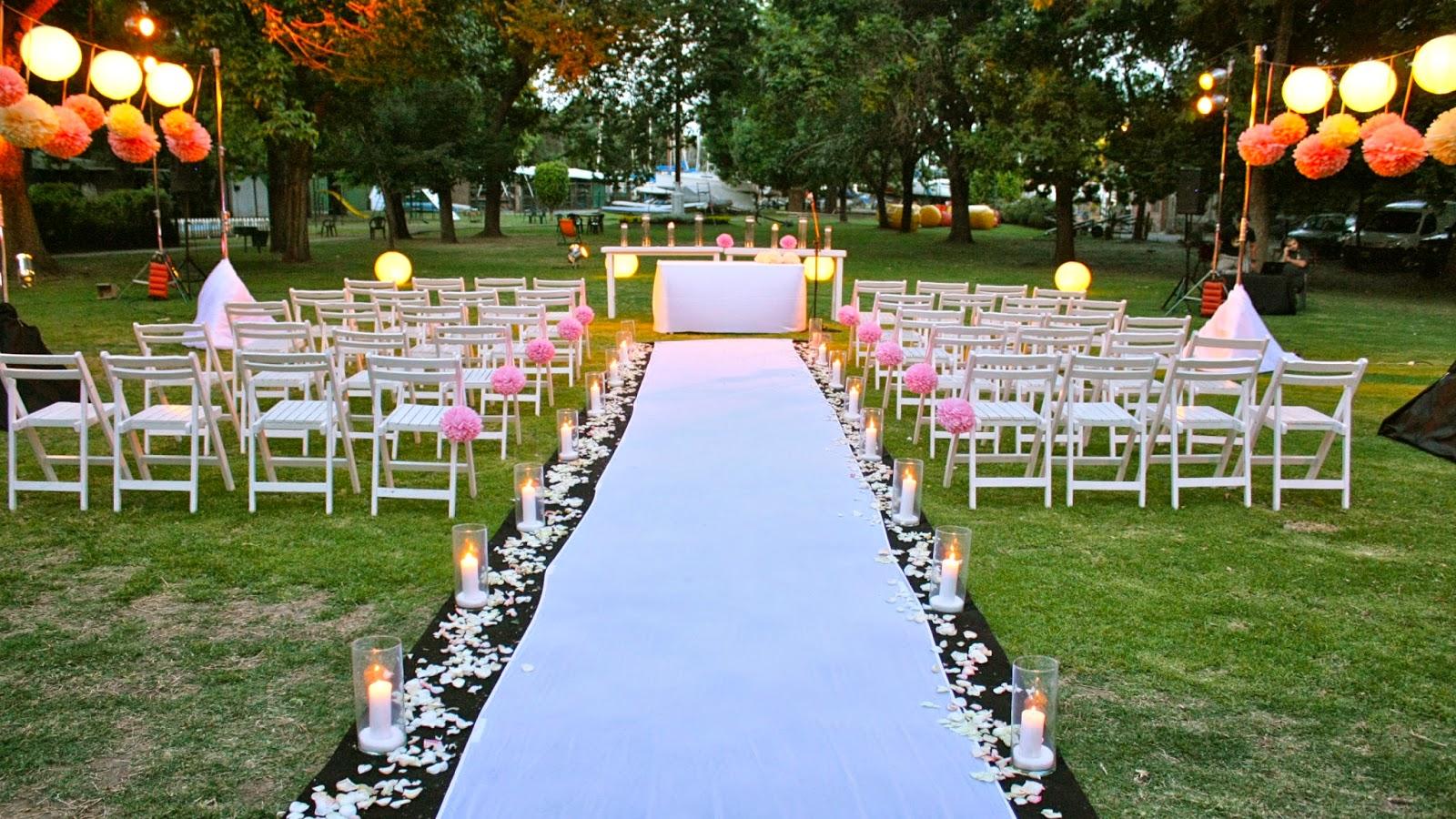 Ceremonia al aire libre pato da cunha for Ambientacion para bodas