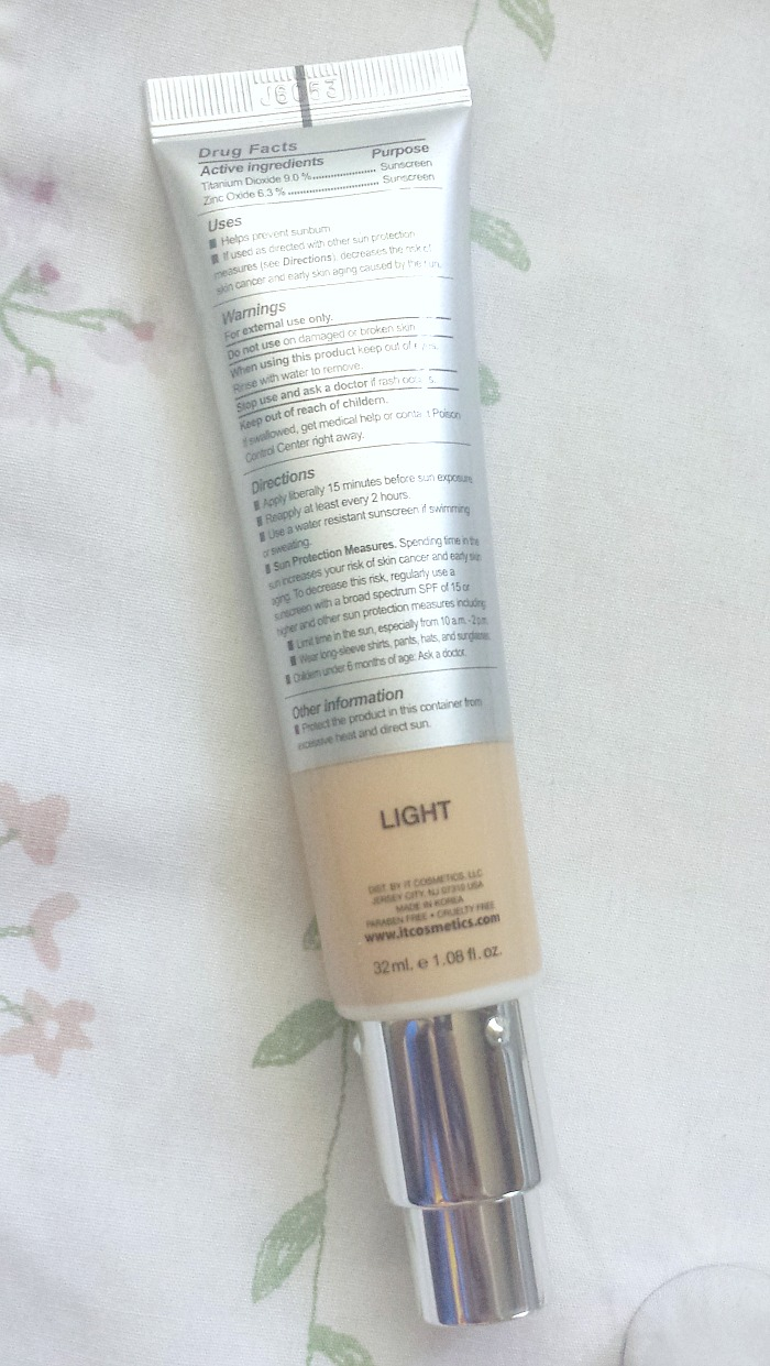 REVIEW   it Cosmetics Your Skin But Better CC Cream SPF 50+ in light swatches