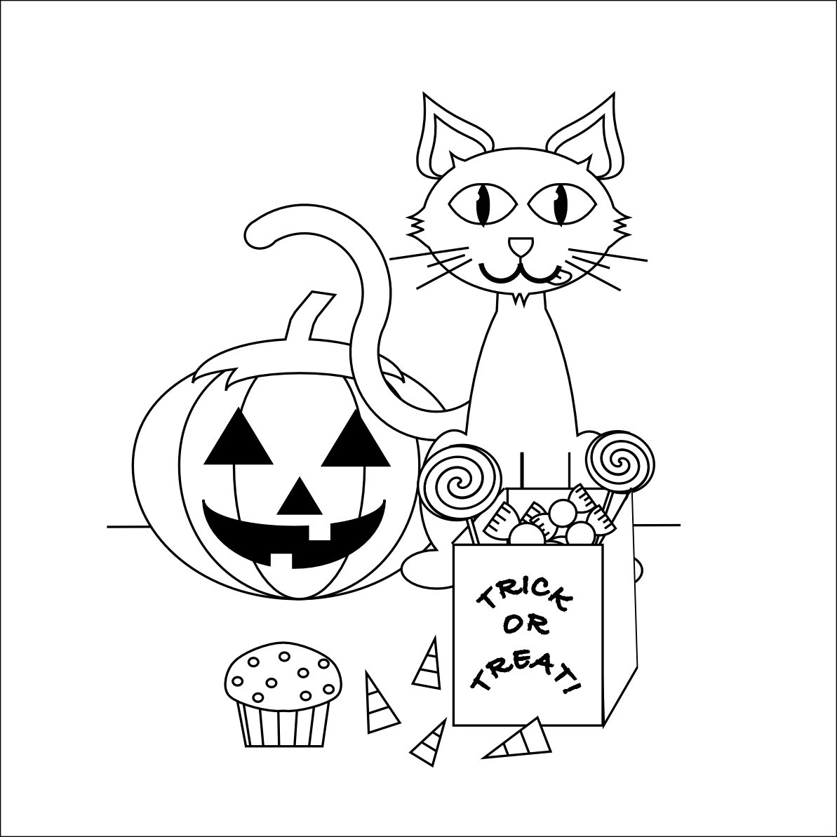 Smarty pants fun printables october 2011 for Printable halloween coloring pages