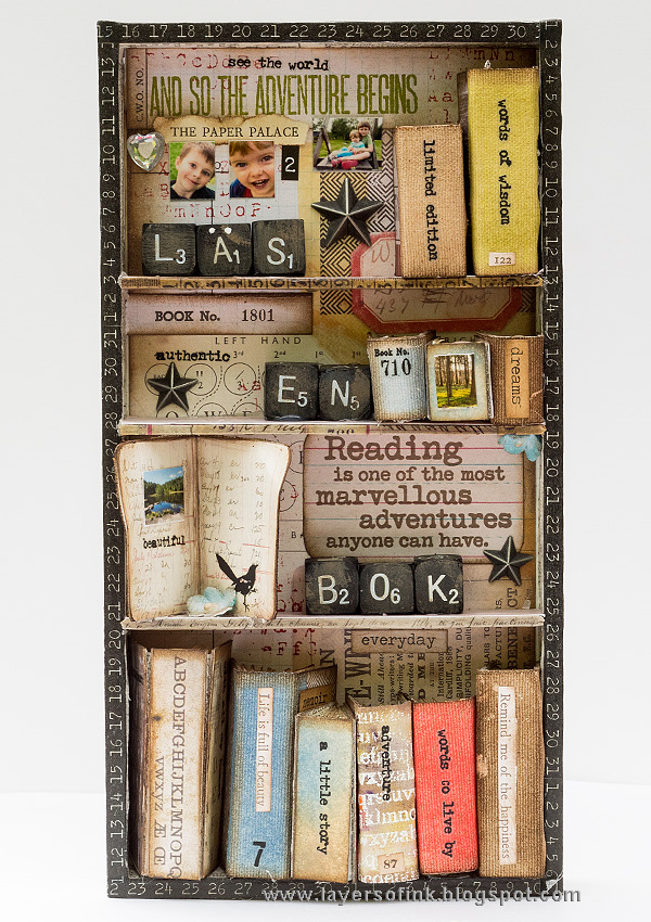 Layers of ink - Miniature Bookshelf with Handmade Books by Anna-Karin Evaldsson