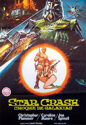 Star Crash. Choque de galaxias, Luigi Cozzi, Caroline Munro, David Hasselhoff, Christopher Plummer