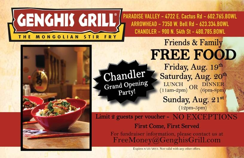 Chandler Chamber Of Commerce Genghis Grill The Mongolian Stir Fry