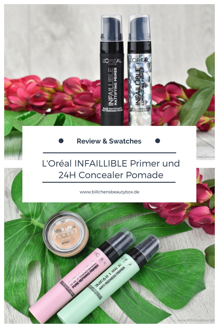 L'Oréal INFAILLIBLE Primer und 24H Concealer Pomade - Review und Swatches