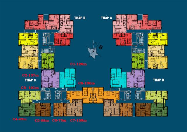 Mặt bằng tổng thể dự án Việt Đức Complex
