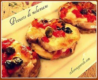 doppie pizzette di melanzane cotte in forno