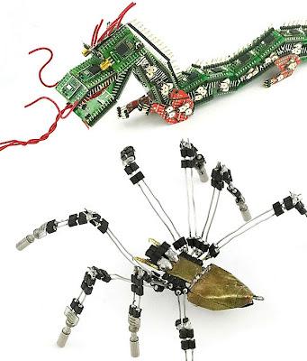 Arte con computadoras recicladas