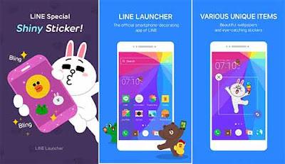 LINE Launcher - Aplikasi Launcher Android Terbaik
