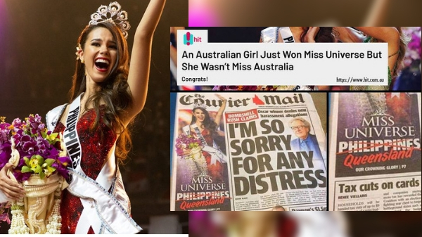Australian newspaper claims Catriona Gray is Miss Universe 'Queensland' not Philippines