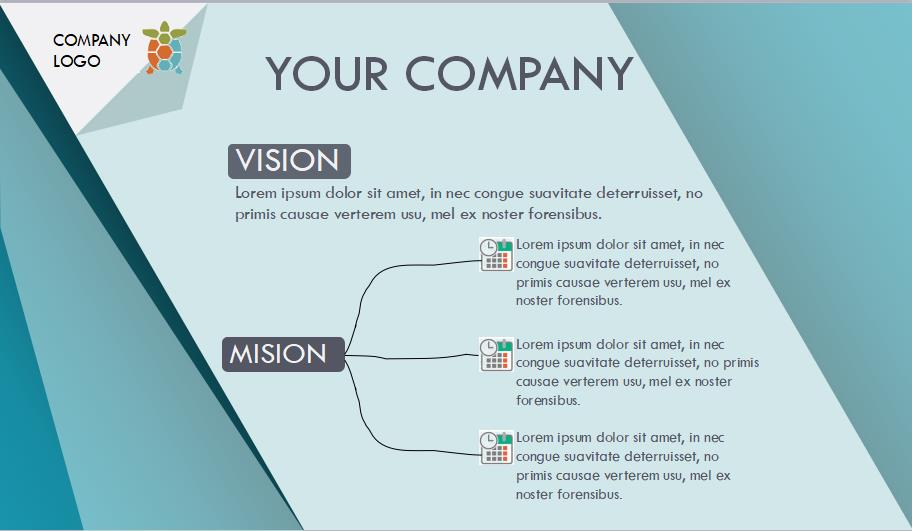 Simple company profile powerpoint template free download wajeb