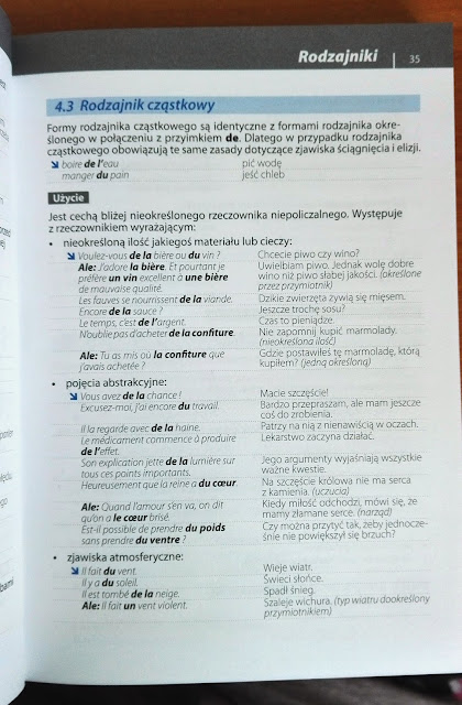 """Recenzje #4 - """"Gramatyka języka francuskiego"""" - przykładowa strona 2 - Francuski przy kawie"""