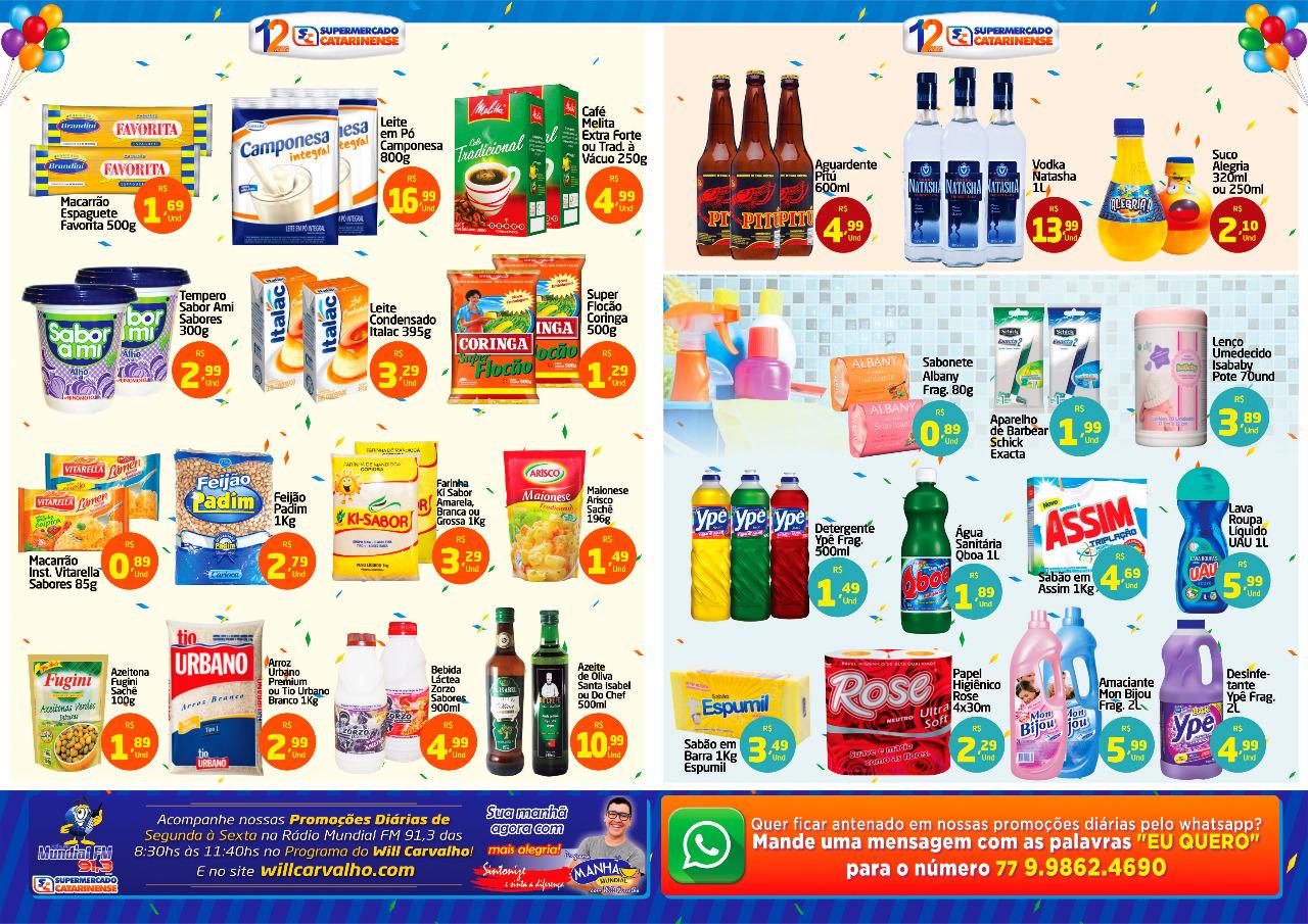 As ofertas deste mês de aniversário do Supermercado Catarinense continuam
